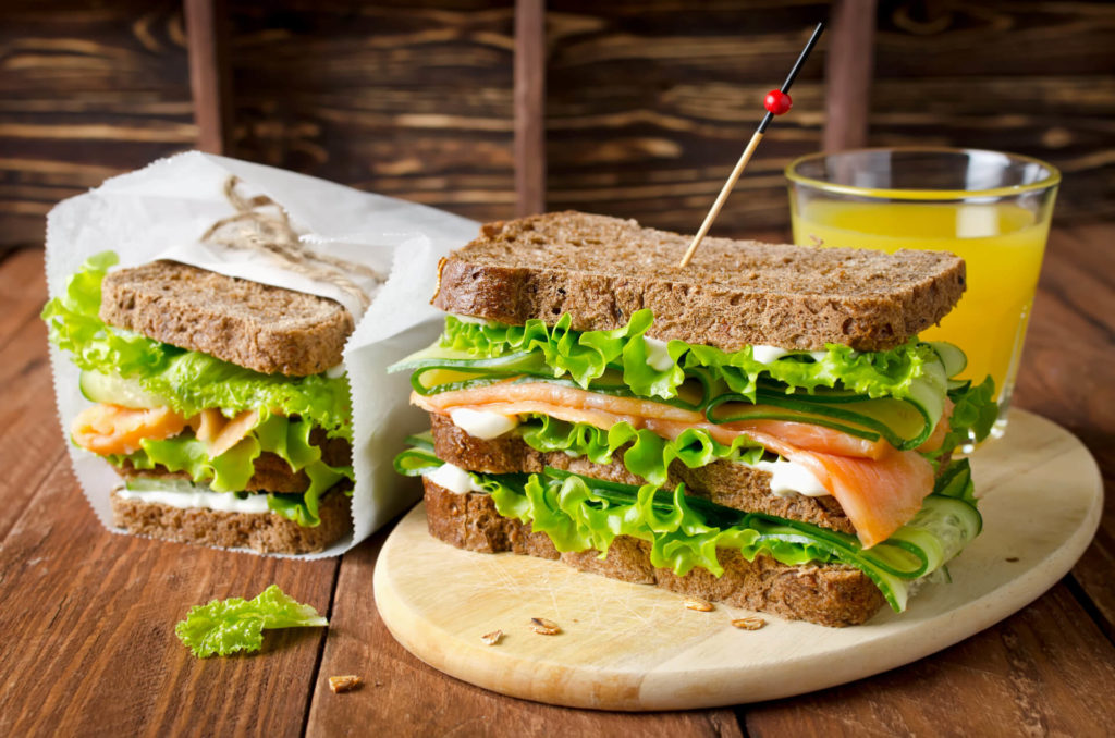 leckeres Lachs-Sandwich - Essfit